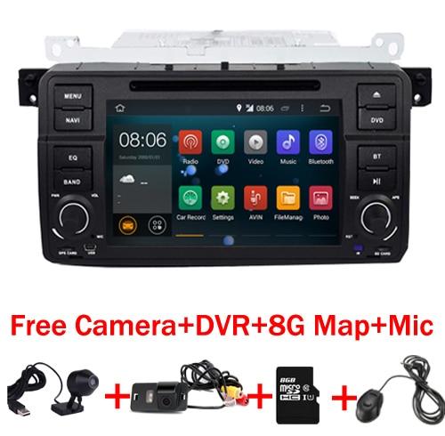 "imágenes para 7 ""Pantalla Táctil digital de coche pc android 7.1 para BMW E46 M3 Wifi 3G 1024*600 Bluetooth Radio USB SD volante DVR Cámara"