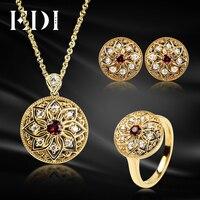 EDI Европейский Трендовое кольцо с натуральным гранатом драгоценный камень 925 стерлингового серебра серьги кулон для женщин ювелирные компл