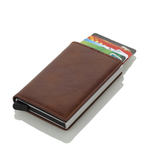 Wholesale 2019 New PU Leather Card Holder Men And Women Card Id Holders RFID Aluminium Credit Card Holder Travel Card Wallet new pu leather passport cover holder women men travel credit card holder travel id card document passport holder