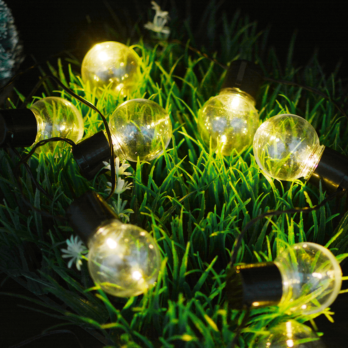Garden Solar Light 10 Ball Led Bulb Solar Powered garden lamps Waterproof Warm White Solar String Lights For Outdoor Decoration