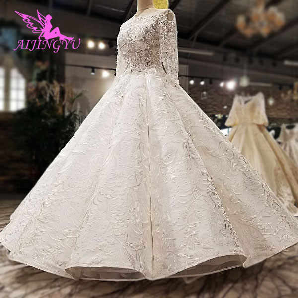 Aijingyu Muslim Wedding Dress Preowned Ivory Bridal Wear