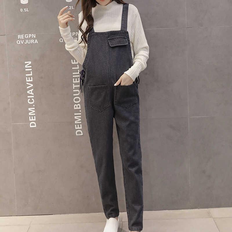 fcd38e6a40698 Maternity Plus Size Denim Jumpsuit Pants Fashion Romper Pregnant Women  Overalls Korean Plus Size Jean Jumpsuit