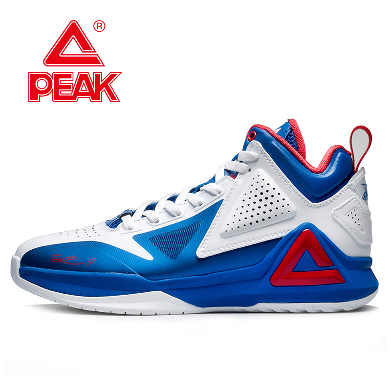 ФОТО PEAK SPORT Men's Basketball Shoes Tony Parker I Professional Athletic Player Lightweight Sneaker E34323A Free Shipping