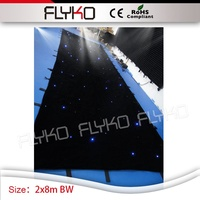 2x8m BW starlight backdrop sound system effect wedding stage star screen