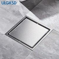 ULGKSD Bathroom Accessories Floor Drain Chrome Stainless Steel Shower Drain Water Filter Stopper Black Drains