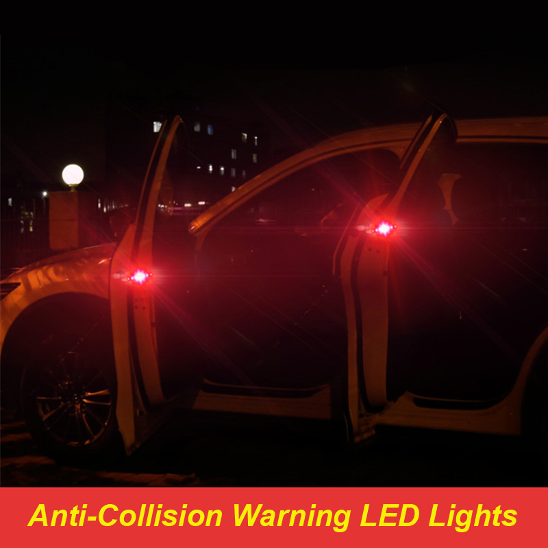 Flashing LED Warning Lamp Car Door Lights For Audi A4 B6 B8 Passat B5 B7 Skoda Octavia A7 Renault Megane 2 3 <font><b>Ford</b></font> <font><b>Focus</b></font> <font><b>mk2</b></font> Lada image