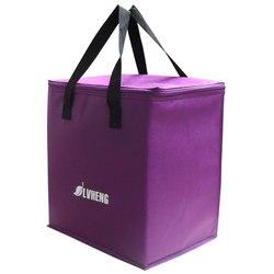 Фиолетовый светильник, Нетканая охлаждающая сумка, легкая сумка для еды, Термосумка 9Л, дешевая сумка для свежего льда с изоляцией из фольги