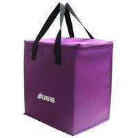 Purple Light Non Woven Cooling Handbag Easy Taking Food Thermal Bag 9L Cheap Fresh Ice Bag
