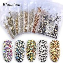 1440 шт, смешанные Стразы для ногтей, камни, дизайн страз, украшения для ногтей, bijoux ongles, 3d украшения для ногтей, аксессуары для маникюра