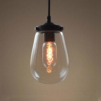 Hot sales crystal pendant lights modern Clear glass globe pendant lights Edison bulbs  hand blown LED home decoration lamps