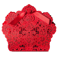AIMA 100pcs Favor Box Candy Wedding Gift Boxes (Red)