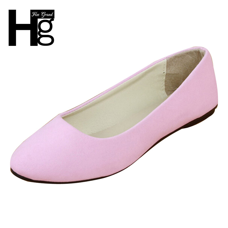 HEE GRAND Flock Women's Flats For 2017 New Summer Slip-On Round Toe Casual Flat Shoes Basic Shoes Woman Size Plus 35-41 XWD1615 new 2017 spring summer women shoes pointed toe high quality brand fashion womens flats ladies plus size 41 sweet flock t179