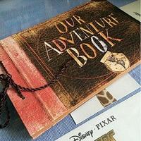 Vintage 40 Pcs Kraft Paper Sheets Card Our My Adventure Book Album Handmade Pixar DIY Photo foto Scrapbook Photo Album