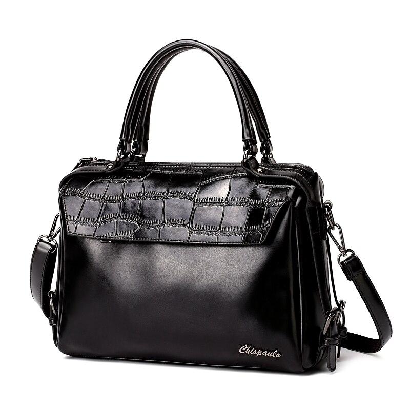 Luxury Brand 2017 Designer Handbags Cow Genuine Leather bags for women Messenger Bags bucket Ladies Crossbody Crocodile Bag X80