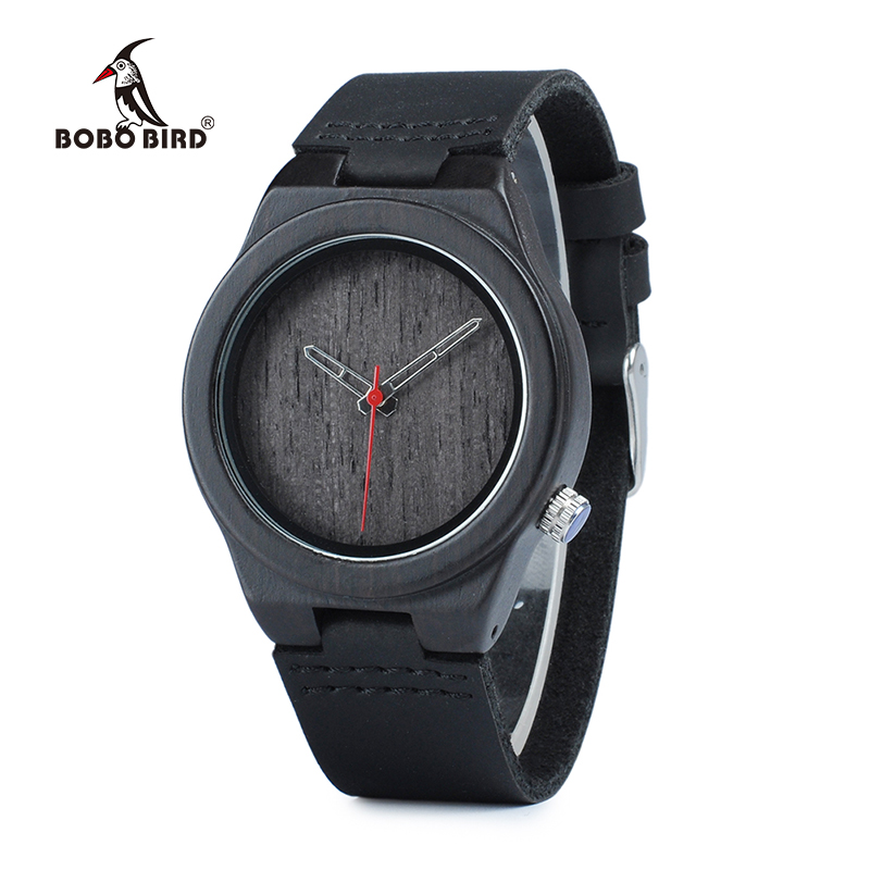 BOBO BIRD WP11 Classic Black Wood Watch For Women Brand Design 4 O'clock Lug Dial Face Quartz Watches As Gift OEM Dropshipping