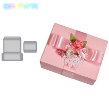 2018New Gift Box Metal Cutting Dies Stencils for DIY Scrapbooking/photo album Decorative Embossing DIY Paper Card недорго, оригинальная цена
