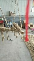 10 sets 4 heads rope pendant lamp with 60cm bamboo