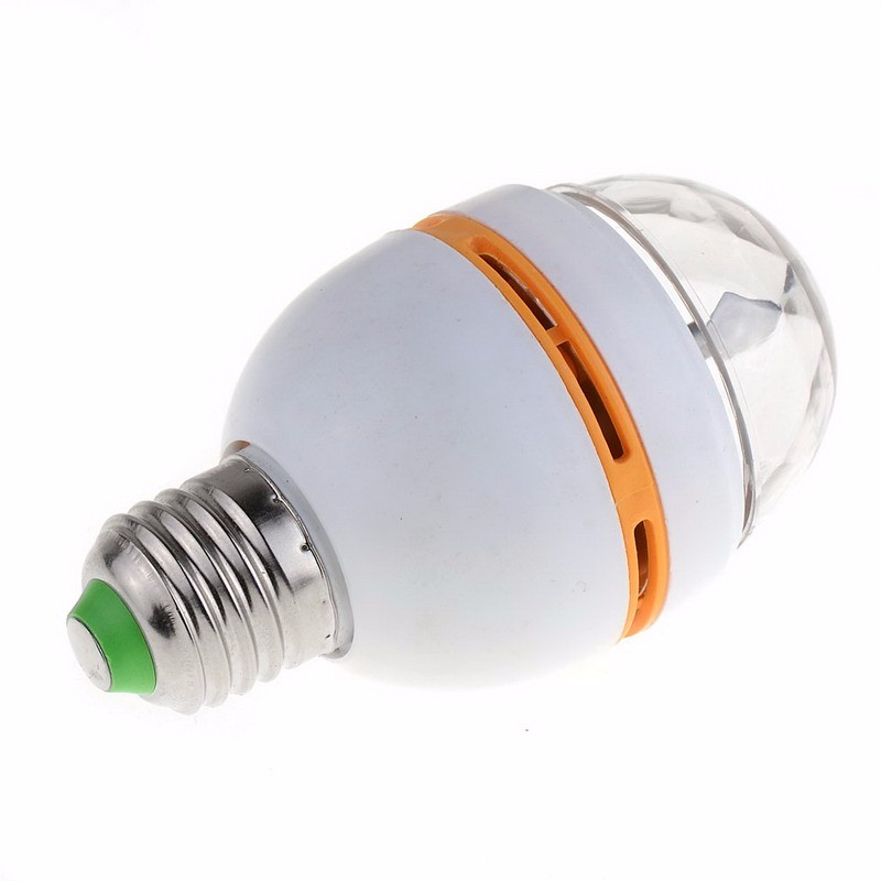 16 Colors E27 RGB LED Auto Rotating Lamp 3W AC 110V 220V Light Bulbs LED Bulbs Stage Light DJ Disco Pub SR1G VEJ36
