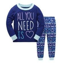 Купить с кэшбэком Children Clothes Kids Clothing Set Boys Pajamas Sets Letter Styling Nightwear Print Pajamas Girls Sleepwear Baby Pyjama