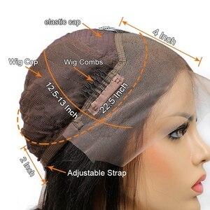 Image 5 - ブラジル実体波レースフロント人毛ウィッグ女性のための自然な黒の漂白事前摘み取らで漂白ノット