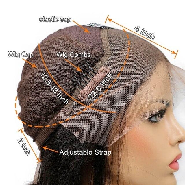 1B/27 color degradado corto rizado del pelo humano del frente del cordón pelucas con minimechones Pre arrancó Remy brasileño de encaje Bob pelucas nudos blanqueados
