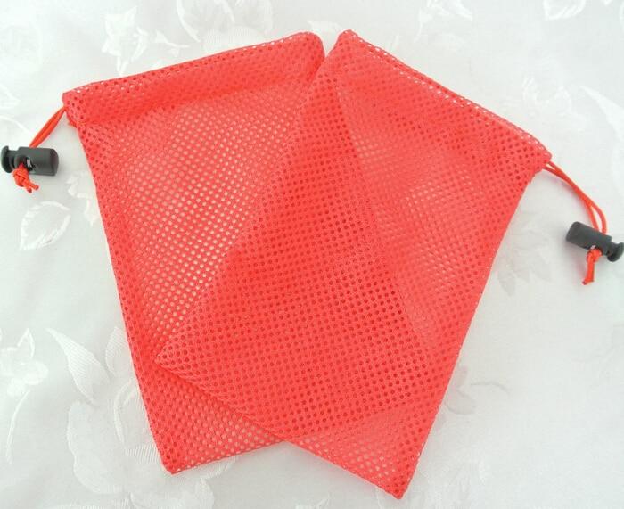Купить с кэшбэком 100pcs free shipping mesh drawstring bag jewelry mesh bag mesh gift bag pouche custom logo for gift shoes jewelry
