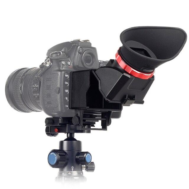 52d8c7f59f 3X ingrandita Schermo LCD Della Fotocamera Mirino Magnifier View Finder Per  Canon 5D3 Per Nikon D750