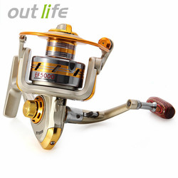 Outlife EF1000-7000 10BB 5.2:1 Metal Spinning Fishing Reels Fly Wheel For Fresh/ Salt Water Fishing Tool Accessories