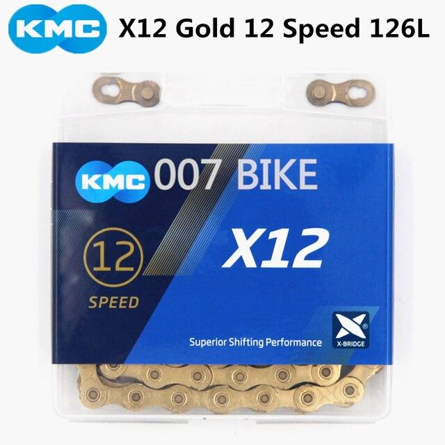 KMC X12 الذهب سلسلة 12 سرعة دراجة هوائية جبلية سلسلة دراجات الأصلي X12 الفضة الطريق دراجة 126L 12 سرعة 24 سرعة سلاسل KMC X12