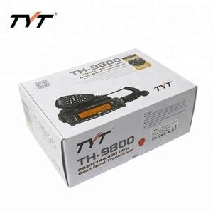 Image 5 - Mais quente!!! tyt TH 9800 longa distância rádio do carro móvel walkie talkie 100 km cobertura vv, vu, uu quad band two way repetidor de rádio