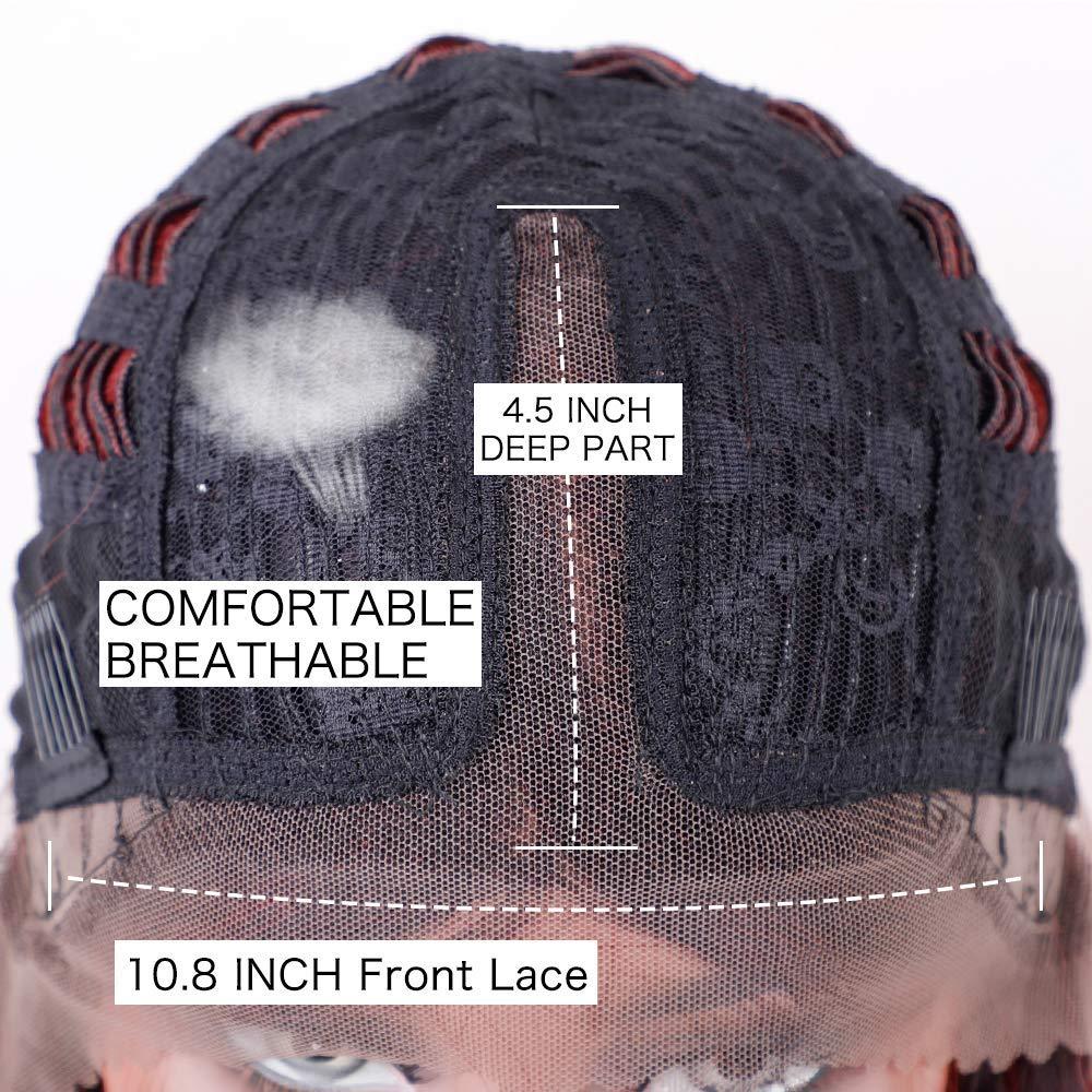 Στοιχείο Lace Μπροστινή Bob Περούκα Ombre - Συνθετικά μαλλιά - Φωτογραφία 5