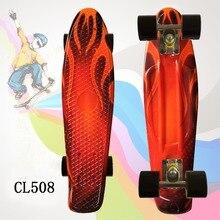 Planche à roulettes enfant planche à roulettes Flashy 22 pouces Fishboard Cruiser banane planche à roulettes Mini planche à roulettes pour enfants Sports de plein air