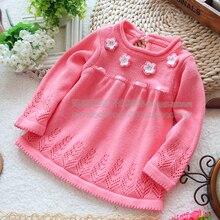 Розничная новая коллекция весна осень детская одежда девушки свитер пуловер ребенок вязаный свитер юбка топ ребенок верхняя одежда