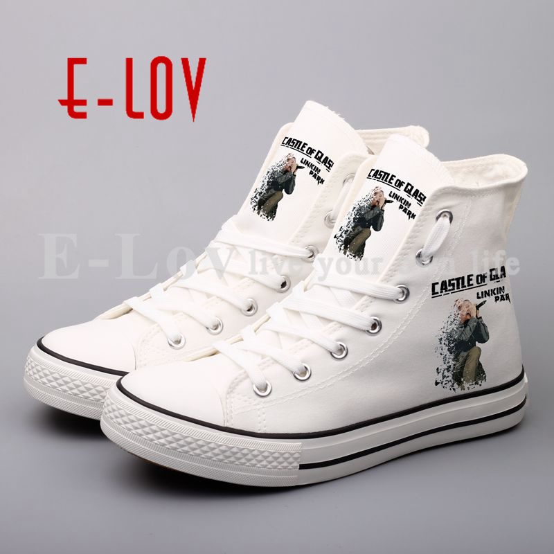 Rock Music Canvas Shoes Printed Fashion Women Casual Shoes Lace-Up Flat Shoe For Couples Loves Valentine's Day Gifts printed assassins creed canvas shoes fashion design hip hop streetwear unisex casual shoes graffiti women flat shoe sapatos