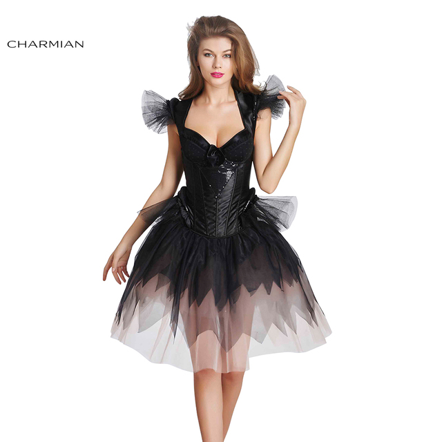 Charmian frauen Gothic Retro Viktorianischen Overbust Korsett Kleid ...