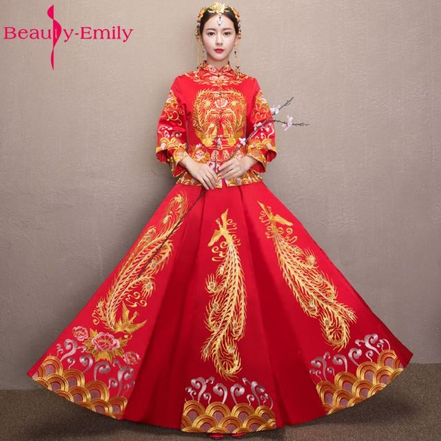 Beauty emily red china wedding cheongsam wedding dresses for Wedding dresses in china