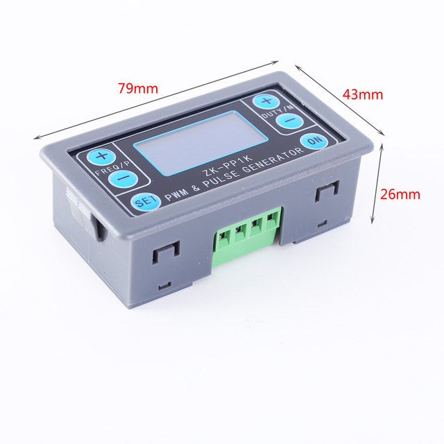 Signal generator square wave generator 1-channel 1hz-150khz dual mode lcd pwm pulse frequency module adjustable stepper motor