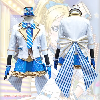 2018 New LoveLive! Card HR Ayase Eli Cosplay Costume Fancy Dress Adult Costumes Carnival/Halloween Costumes for Women S-XL 2