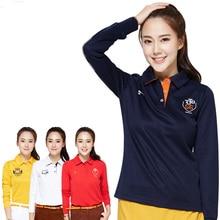 golf shirts long sleeve spring autumn lady golf top shirts women polo shirt turn-down collar uniforms girls shirts SPORTS