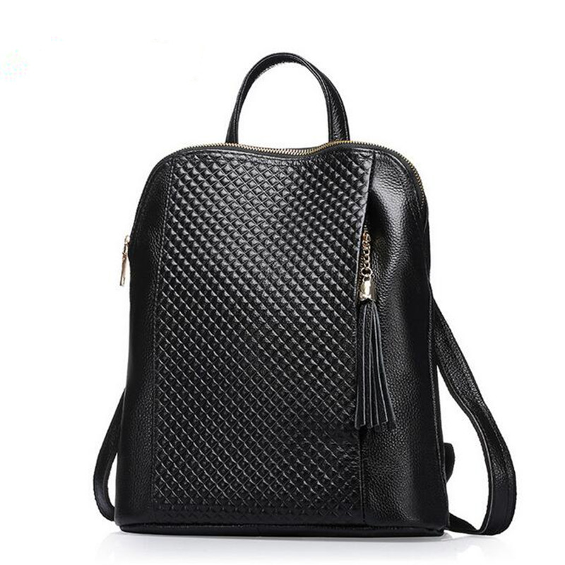 2016 New Casual Girls Backpack Genuine Leather Fashion Women Backpack School Travel Bag Teenagers Girls Cowhide Shoulder Bags 2016 newest wave fashion backpack women casual dackpacks backpack school leisure travel school bags women s shoulder bags bolsos