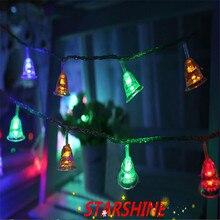 220 В, 10 м, 100 светодиодный маленький колокольчик, светодиодный гирлянда, украшение для елки, рождественские, свадебные, вечерние, праздничные украшения с европейской вилкой