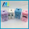 12 pcs Hot Lovely Unique Cute Tooth Pencil Sharpener School Kid's children Favorite Beautiful stationary dental clinic gift