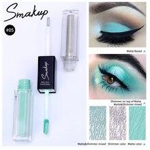 SMAKUP Double Liquid Eye Shadow Brightening Eye Shadow Long-lasting Matte And Shimmer Eye Shadow Diamond Pearlescent Eye Makeup недорого