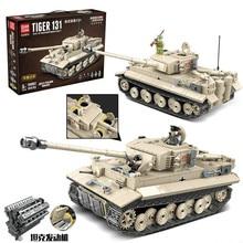 World War Ii Legoings Tiger Tank Children's Intelligence Assembling Building Blocks Tiger Tank Toys Gift Doll все цены