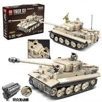 World War Ii Legoings Tiger Tank Children's Intelligence Assembling Building Blocks Tiger Tank Toys Gift Doll