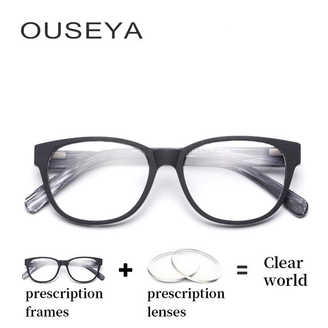 1a00e51a196 Acetate Men Blue Light Eyeglasses With Diopters Wood Grain Retro Vintage Transition  Lens Optical Computer Glasses  M3211