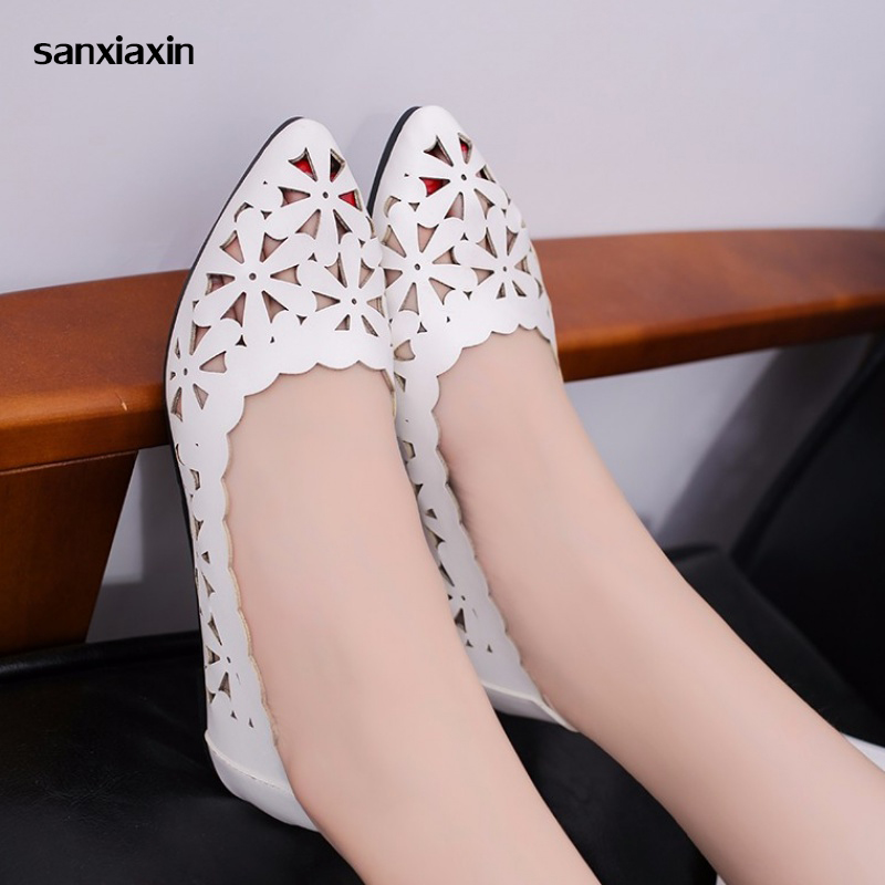 Sanxiaxin New Flats Soft Nurse Shoes Medical Shoes Female Hospital Experiment Cave Shoes Operating Room Slippers Doctor Slipper