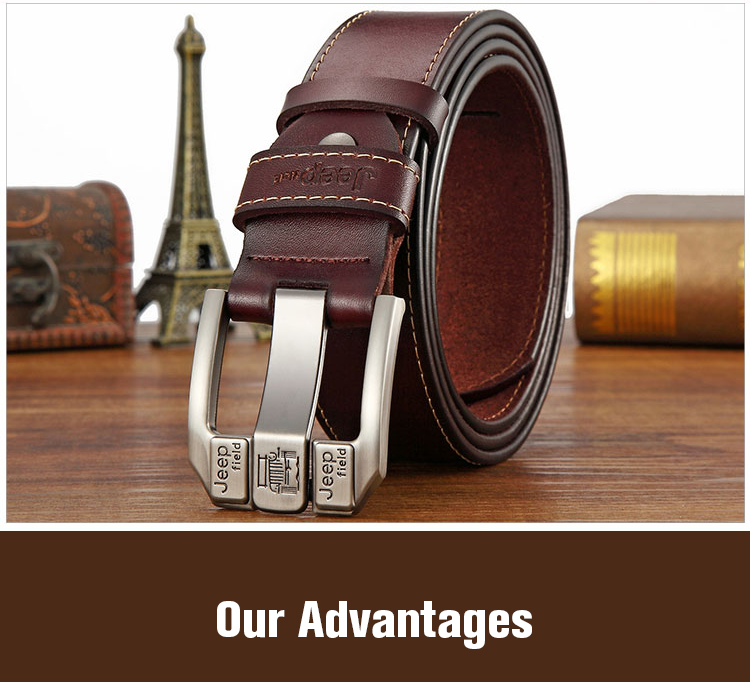 (4)Designer men's belts for men belt genuine leather High quality famous brand Pin Buckle Strap Luxury Male Belts Man Belt Jeans