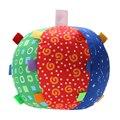 Crianças multicolor toys aperto mão do bebê bola sino bola pano sentido música aprendizagem crianças children play fun toys bola