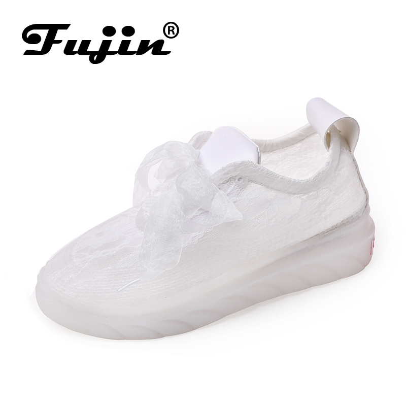 Fujin New Shoes Woman 2019 Sneakers Platform Dropshipping Summer Hollow Mesh Breathable for